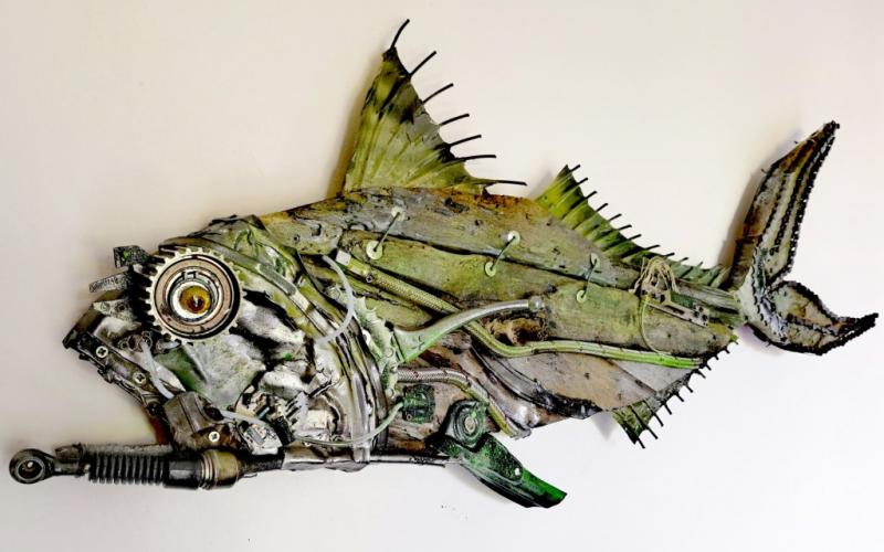 tuscany, fish, sculture, legno, mare, design, materiali riciclati, pesci, arte moderna, tuscany fish art , by marco ghizzani,liste di nozze,idea regalo,arte del riciclo,pesci di legno,sculture con materiali riciclati